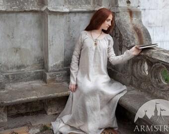 "Medieval Robe ""Sansa""; ren robe; sca robe; robe underdress"