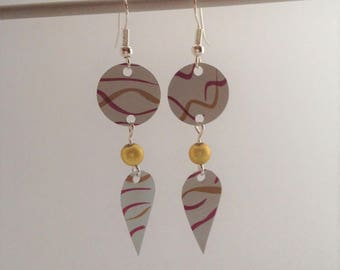 White and pink arabesque nespresso earrings limited edition