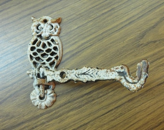 Vintage Shabby Owl Movable Wall Hook