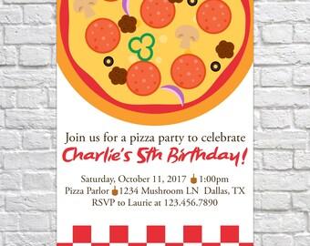 Printable Pizza Party Birthday Invitation, Pizza invitation, Birthday Invite, Kid's Birthday, Birthday Party, Pizza invite, pizza birthday