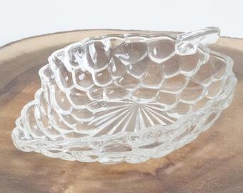 Clear Glass Bowls, Grape Bunch, vintage