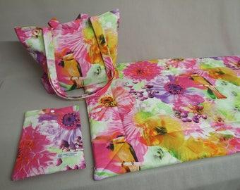 Ensemble tapis , sac et pochette carnet de santé pour chat ou chien PARADISE