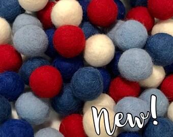 Collection - 60PC Piece PATRIOT Felt Balls