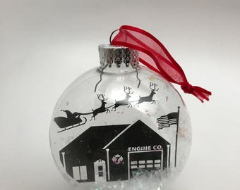 Fairlington Fire House Christmas Ornament - Fairlington, Virginia Christmas Ornament - Fire Station 7 - Arlington Virginia Ornament -  ACFD
