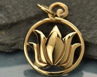 Natural Bronze Lotus Pendant