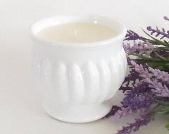 Milk Glass Soy Candle - Olive Leaf & Lemon Candle - Randall Glass