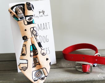 Retro Cameras Handmade Smart Dog Tie