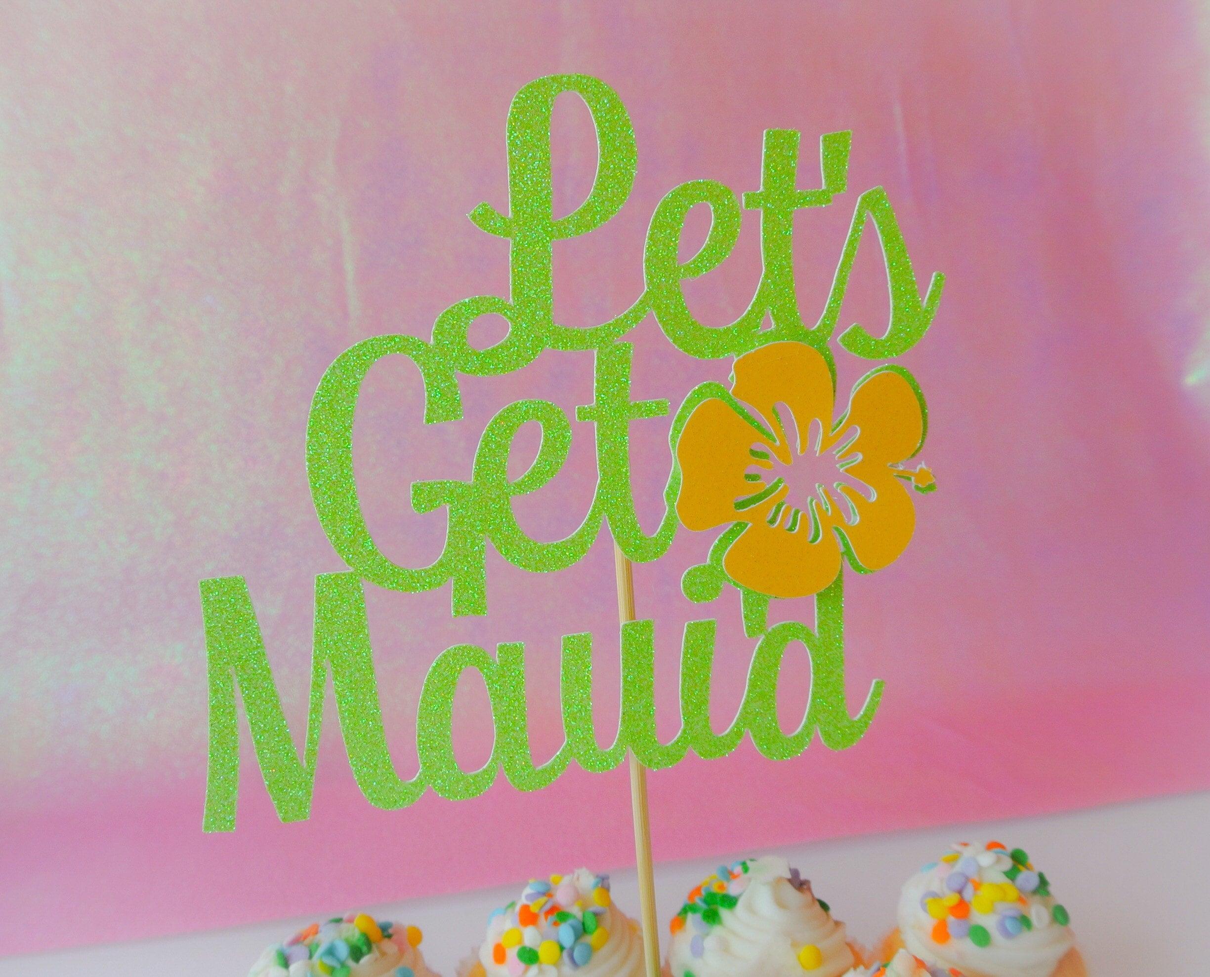 Lets get maui\'d Cake topper. Wedding cake topper. Bridal