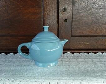 H. L. C. Fiesta Periwinkle Blue Tea Pot