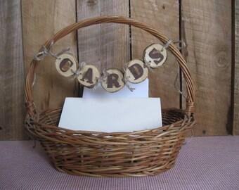 Wedding Card Basket-Wicker Basket-Vintage Basket-Card Box-Wedding Card Basket-Baby Shower Card Holder-Woven basket-Long Handled Basket