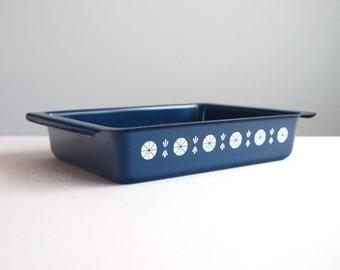 Cathrineholm Norway Viking Dark Blue Enamel Lasagna Baking Pan
