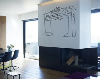 Scifi art inspired by TRON Recognizer vinyl wall decal