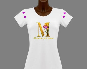 I love you MOM women's white t-shirt