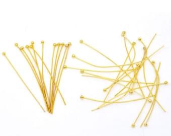 70 ball head pins gold 50 x 0, 5 mm