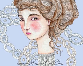 """MarmeeCraft art print, """"Lily and the Lace Web"""""""