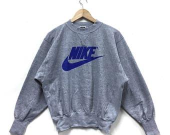 Rare!!! Vintage Nike Swoosh Sweatshirt Big Logo Nike Japan