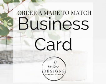Made To Match or Custom Business Card - Custom Business Cards, Branding, Business Card Templates, Premade Business Cards