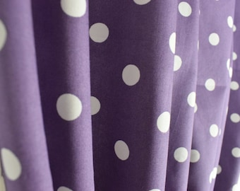 Polka Dot Curtains, Bedroom Curtains, Living Room Curtains, Handmade Lined  Curtains, Shabby