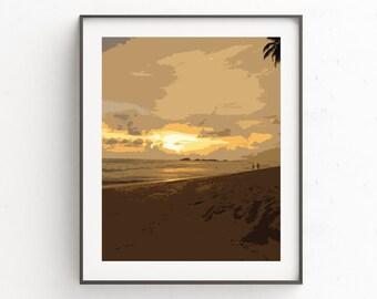 Ocean Coastal Art, Beach Print Decor, Wall Art Coastal, Wall Art Print, Printables, Ocean Wall Art Decor, Instant Download, Beach Decor,