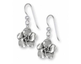Forget Me Not Earrings Jewelry Sterling Silver Handmade Flower Earrings FMN2-FW