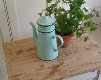 Vintage Enamel Coffee Pot