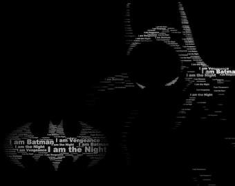 Batman Typography Print