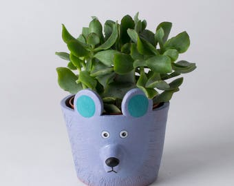 Bear Plant Pot, Ceramic Bear, Bear Decor, Bear Lover, Bear Home Decor, Bear Cactus Pot