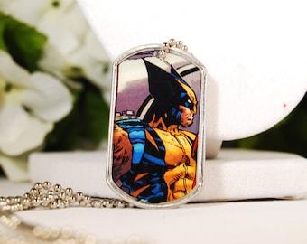 Wolverine Dog Tag Necklace OOAK
