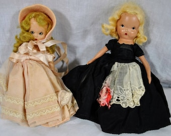 Nancy Ann Storybook Dolls - Lot of 2 - 1940s and 1950s