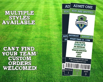 Seattle Sounders Ticket Invitation