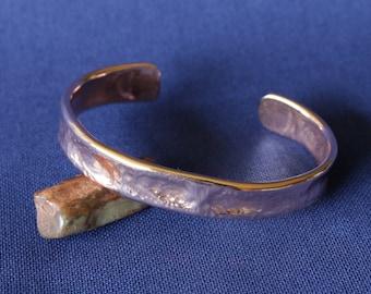 Copper Textured Cuff, Copper Cuff, Copper Bracelet, Hammered Bracelet, Copper Hammered Cuff