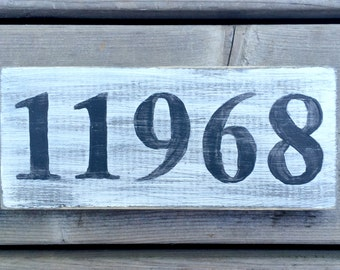 ZIP CODE Signs - Custom-Made, Rustic decor with a personal touch