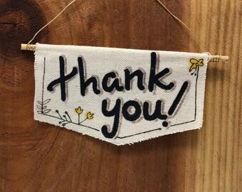 Mini Canvas Banner - Thank You