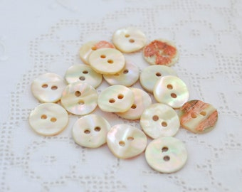 12 pcs, Mother of Pearl Shell Buttons 14 mm, Eco Friendly Natural Buttons