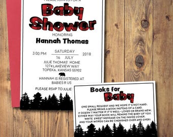 Printable Buffalo Plaid Baby Shower Invitation