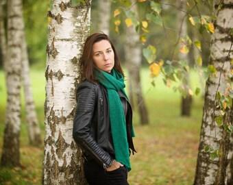 knit scarf, infinity scarf, chunky knit scarf, merino wool scarf, green scarf, chunky knit, knit infinity scarf, fashion scarf, long scarf