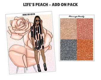 Life's a Peach - Add on Pack - Double Box/Glitter Headers
