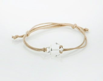 Nautical Anchor Silver Tone Bracelet by VERO for SeaStyle