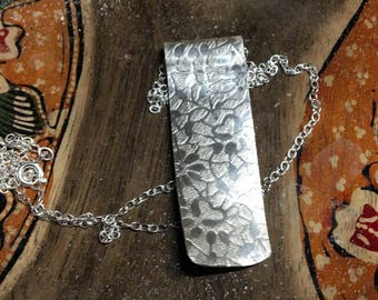 Textured Silver Pendant