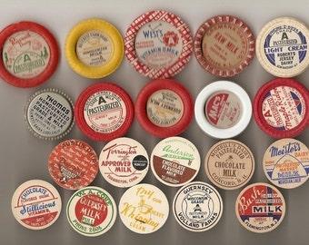 99 Different Old MILK Caps - DAIRY , JUICE, Etc.