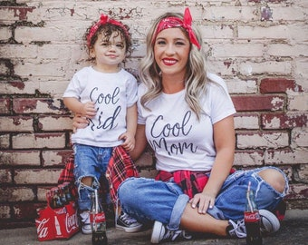 Cool Mom - Mommy And Me - Matching Shirts - Mommy And Me Oufit - Mother And Daughter - Mothers Day Gift - Gift For Mom - Gift For New Mom