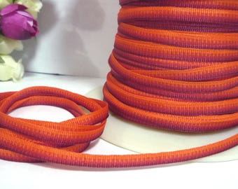 Orangered Ombre Polyester Grosgrain Ribbon 3/16 inch /  5mm width best for hanger loop, wrapping, invitation card L428