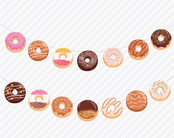 BANNER | Donuts and Sprinkle Theme | Birthday Party