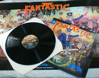 Elton John vinyl, Captain Fantastic And The Brown Dirt Cowboy complete with poster and inserts, 1975, vintage vinyl, 1970s, rare collectable