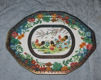 A Vintage Tray, Made in England by Daher Decorated Ware, by Daher, 11101, Thanksgiving Tray, Perfect For The Holidays, Gorgeous Painting