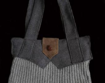 Memory purse; sweater purse; repurposed clothes; repurposed sweater purse;