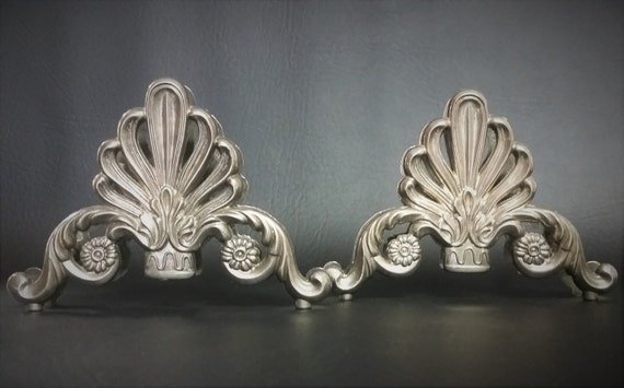 Silver Knife Rest, Pair Of Silver French Style Fleur De Lis Knife Rest Holder