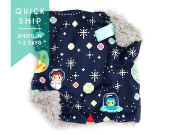 Lovey Tiny Astronaut. Lovey. Space Lovey. Alien Lovey. Star Lovey. Mini Baby Blanket. Security Blanket. Lovie. Minky Lovey.