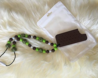 Ice cream sandwich teething chewlery necklace