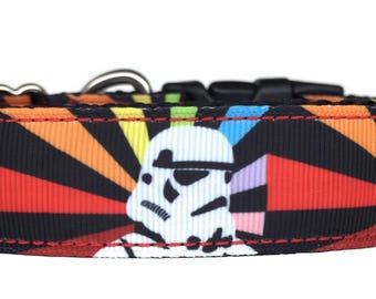 Storm Trooper Art Ribbon Dog Collar